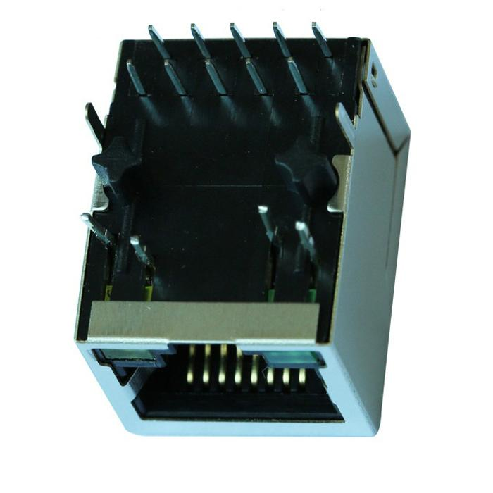 HY911137A   Single Port RJ45 Connectors with 1000 Base-T Integrated Magnetics