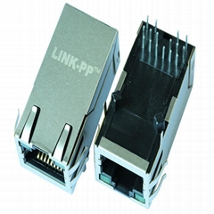 1840728-7 | Single Port RJ45 Connector with 1000 Base-T Integrated Magnetics