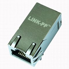 0838-1X1T-W7 Power over Ethernet+ Single Port RJ45 Magjack Connector