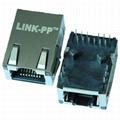 L829-1D1T-43 | Single Port Low Profile RJ45 Connector with Gigabit Magnetics