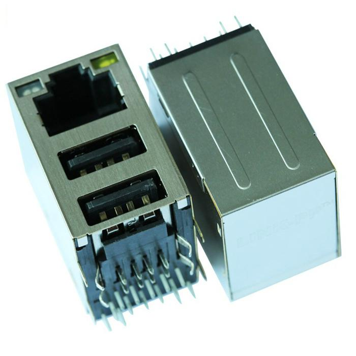 XFATM9-USBGY-4| RJ45 Connector USB module complies with USB 2.0 standards