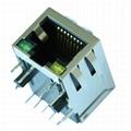 SI-60189-F RJ45 Modular Jacks with 10/100 Base-t Integrated Magnetics