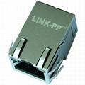 5-6605758-7 10/100 Base-T Single Port RJ45 Magjack Connectors With EMI Finger