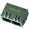 JX80-0019NL 10/100 Base-TX 1X2 Port RJ45 Magjack Connectors