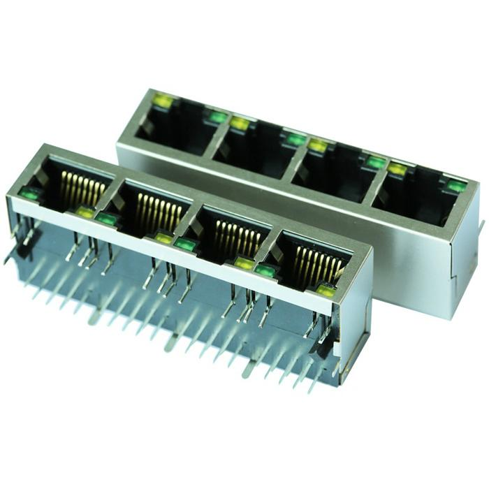 HR911412U | 10/100M RJ45 Integrated Connector Modules