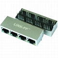 HR931402AE 4 Port RJ45 Integrated Module With Leds
