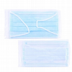 wholesale water-proof non-woven breathing disposable three ply mouth face mask