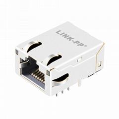 L8AL-1X1T-32A Single Port Low Profile RJ45 Magnetics Without LED