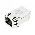 0826-1A1T-23-F | 90° Angle RJ45 MagJack Integrated Magnetics Modular Jacks