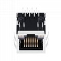 MOX-RJ45-1840 | Single Port RJ45 Connector with 1000 Base-T Integrated Magnetics