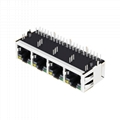64F-1303GYD2NL   1X4 RJ45 Modules Connector with 1000 Base-T Integrated Magnetic