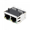HR911261C | 1X2 RJ45 Modular Connector with 1000 Base-T Integrated Magnetics