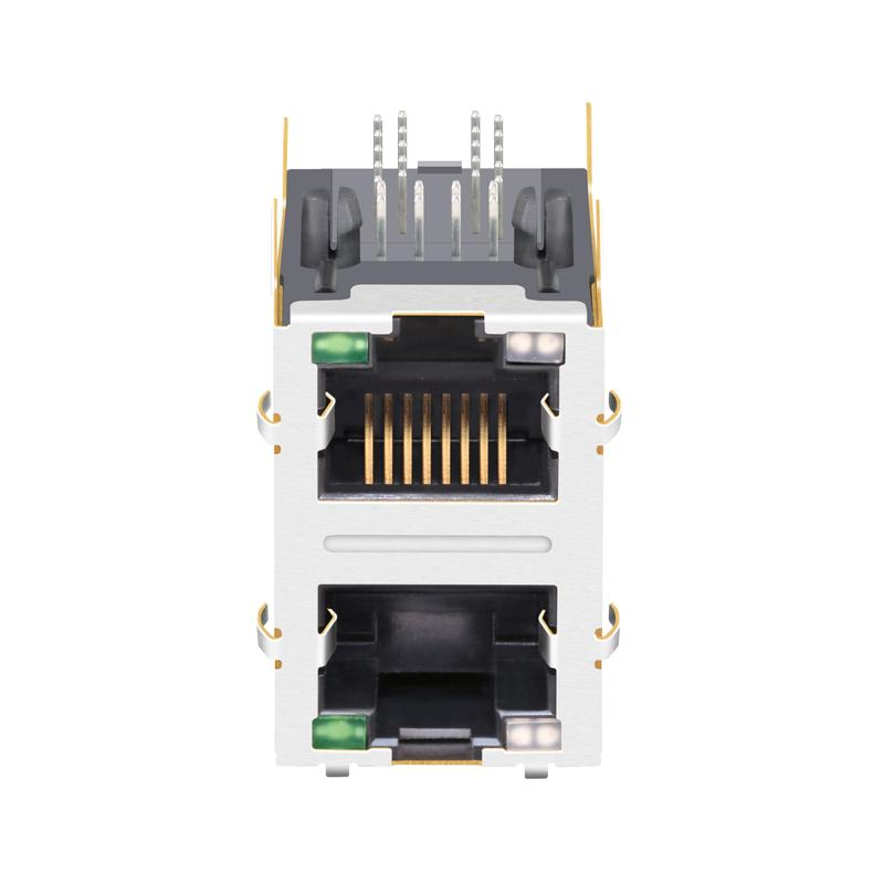 1840331-3 2X1 RJ45 Modular Connector with 1000 Base-T Integrated Magnetics