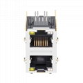 0879-2X1R-Y6 | 2X1 RJ45 Connector with 1000 Base-T Integrated Magnetics