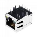 RJ-101G50E | Shielded 1x1 Port Ethernet RJ45 Jack Connector