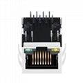 XFATM6CB-CLYG1-4MS 8P8C Cat5 RJ45 Connector Ethernet Jack