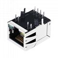 SI-60182-F 1 Port Shielded RJ45 Plug Connector with Led Light