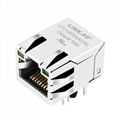 C-5-6605704-9 Shielded Single Port RJ45 Connector with Magnetics