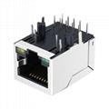 LA1S109-43 LF 1000 Base-t 1X1 RJ45 Connector Module With Magnetic