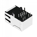 SI-55006-F Belfuse Shielded Single Port 8 Pin  Ethernet RJ45 Connector
