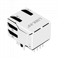 1605752-1 RJ45 Modular Plug Connector with 10/100 Base-T Integrated Magnetics