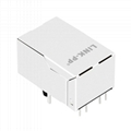 XRJH-01D-1-D12-180 Single Port RJ45 8 Pin Female Connector with Magnetics