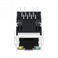 47F-1205GYD2 Single Port RJ45 Connector Price with Integrated Magnetic