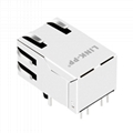 SI-50151-F 10/100 BASE-T 1 Port RJ-45 Connector with Magnetics