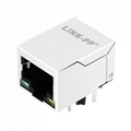LF1S028-XX RJ45 Connector Shielded with 90 degree Magnetics
