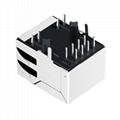 SK02-111008VNL Single Port RJ45 LED Connector with Integrated Magnetics
