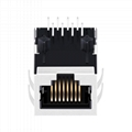 13F-60ND2NL 1X1 Port RJ45 Connector with 90 degree with Integrated Magnetics