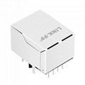 KLU1S041-43 LF 10/100 Base-T 1X1 Port RJ45 Connector with Magnetic