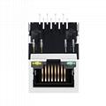 LU1S04143 LF 10/100 Base-T Single Port RJ45 Magnetic Connector