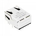 1368398-2 10/100/1000 Base-T 1 Port RJ45 Magjack Connector With LED Light