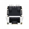 1368398-4 Single Port Low Profile RJ45 Jacks with 1000Base-T Integrated Magnetic