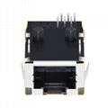 L829-1X1T-91 Single Port Low Profile RJ45 Connector with 10/100 Base-T Magnetics