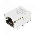 J0G-0003NL Single Port RJ45 Connector with 1000 Base-T Integrated Magnetics