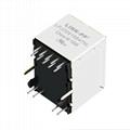 V890-1CX1-46 Vertical RJ45 Ethernet Jacks with 1000 Base-T Integrated Magnetics