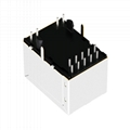 HR871190A | Vertical RJ45 Connector with 1000 Base-T Integrated Magnetics