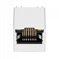 SI-46004-F Vertical RJ45 Connector with 10/100 Base-T Integrated Magnetics & PoE
