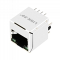 SI-46008-F Vertical RJ45 Connector with 10/100 Base-T Integrated Magnetics