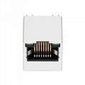 SI-46006-F Vertical 1X1 RJ45 Connector with 10/100 Base-T Integrated Magnetics