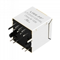 J1AT11ZCC2 Pulse Vertical RJ45 Connector with 10/100 Base-T Integrated Magnetics