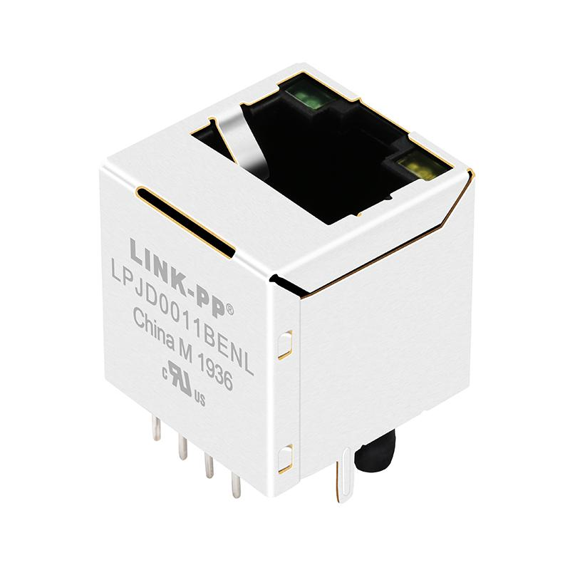 RJ-180A03 Vertical RJ45 Connector with 10/100 Base-T Integrated Magnetics