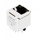 51F-1201GYD2 / 51F-1201GYD2NL Vertical RJ45 Connector With Integrated Magnetics