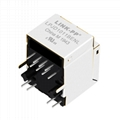 1-1840419-3 10/100 Base-t Single Port Vertical RJ45 Connector With Magnetics