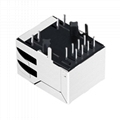 RB1-2M659W1A   Single Port RJ45  PCB Jack.with 1000 Base-T Integrated Magnetics