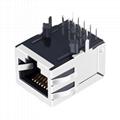 1840433-1   Single Port RJ45 Connector with Gigabit Magnetics Transformers