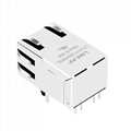 1840750-7 Single Port RJ45 Connector with 1000 Base-T Magnetics For Switches