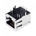 SI-40141 Single Port Ethernet RJ45 Magjack Integrated Magnetics